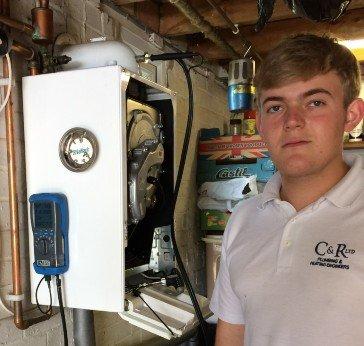 Ryan Lowe the newest member of C&R Plumbing and Heating